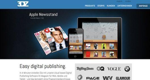 3D Zeitschrift ist ein Paradebeispiel dafür, wie Re-Invention auch im Mittelstand funktioniert. (Screenshot: 3dz.com)