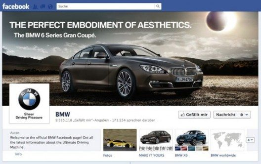 Die Facebook-Chronik von BMW (Screenshot: Facebook)