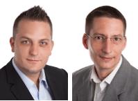Alex Wolfensberger, Geschäftsführer Marcel Engelmann, Geschäftsführer (von l. nach r.) - geschaeftsfuehrer