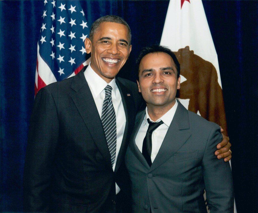 Gurbaksh Chahal mit US-Präsident Barack Obama (© Radiumone / Wikimedia / CC)