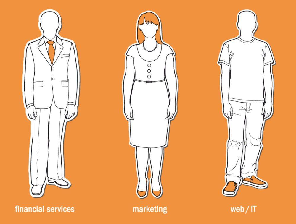Kleidungsvorschriften von Branche zu Branche unterschiedlich. (Bild: Solla / shutterstock.com)