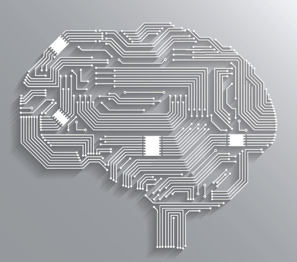 Neurochip - Hier verdeutlicht sich auch der Vergleich zum Gehirn. (Bild: Macrovector / Shutterstock.com)