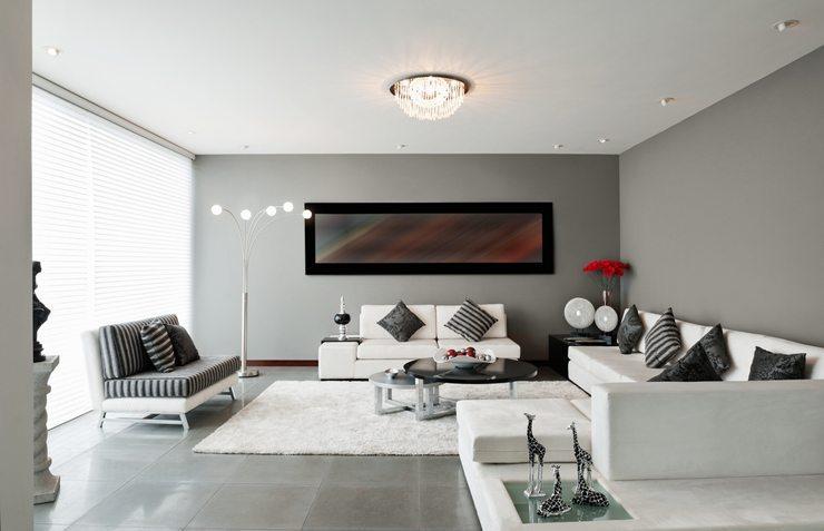 wohnzimmer schwarzes sofa: wie ein modernes wohnzimmer aussieht, Wohnzimmer  dekoo