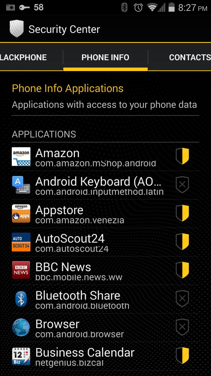 Mit Security Center hält man die Apps an der kurzen Leine. (Screenshot: © Alin Cucu)