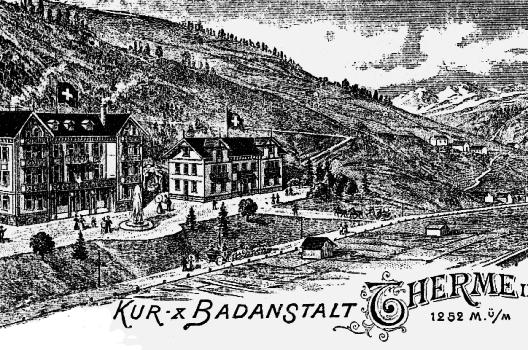 Die Einwohner von Vals nutzten das Wasser seit Entdeckung der Quelle vor allem gegen Blasenkrankheiten. (Bild: © wiki.org)