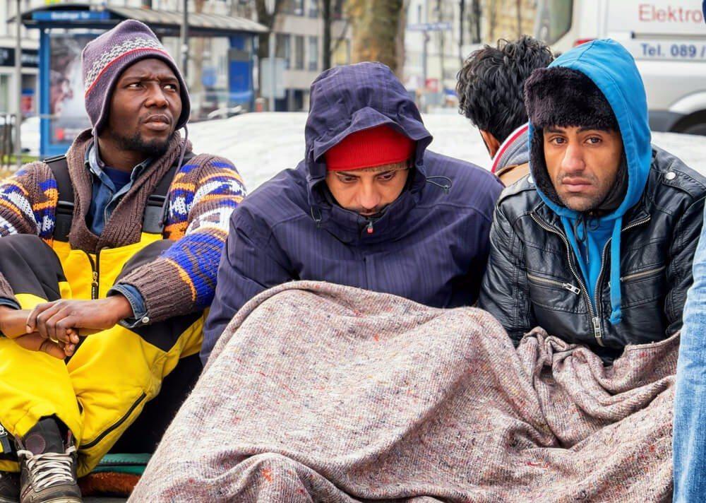 Flüchtlinge Protest
