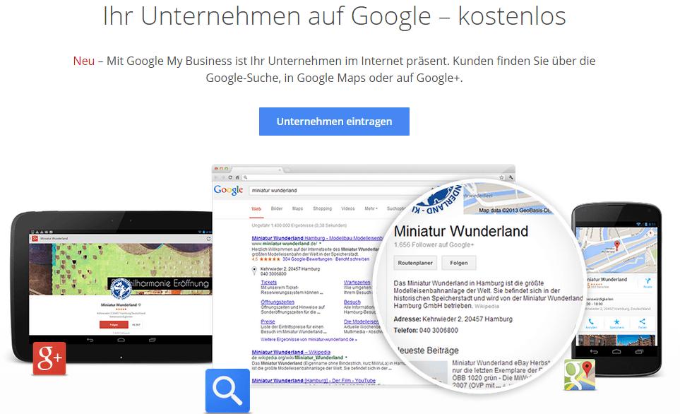 Ein Google-Maps-Eintrag ist nicht nur für Firmen mittlerweile ein Muss. (Quelle: my-business-blog.de)