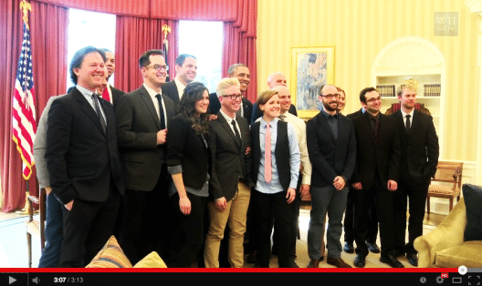 Die führenden Youtuber während des Treffens mit Barak Obama im Weissen Haus. (Bild: U.S. Government, White House videographer, Wikimedia, public domain)