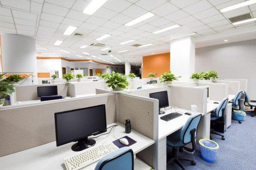 Trennwände ermöglichen ein ungestörtes Arbeiten in Grossraumbüros. (Bild: 06photo - shutterstock.com)