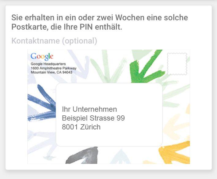Ihren Google My Business Eintrag müssen Sie erst verifizieren lassen.