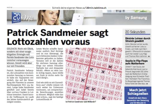 Diese Print-Anzeige bescherte Patrick Sandmeier Duzende Facebook-Anfragen. (Quelle: Storyfilter)