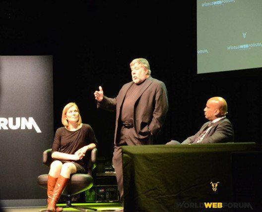Steve Wozniak auf dem WORLDWEBFORUM 2015 (Bild: worldwebforum.com)