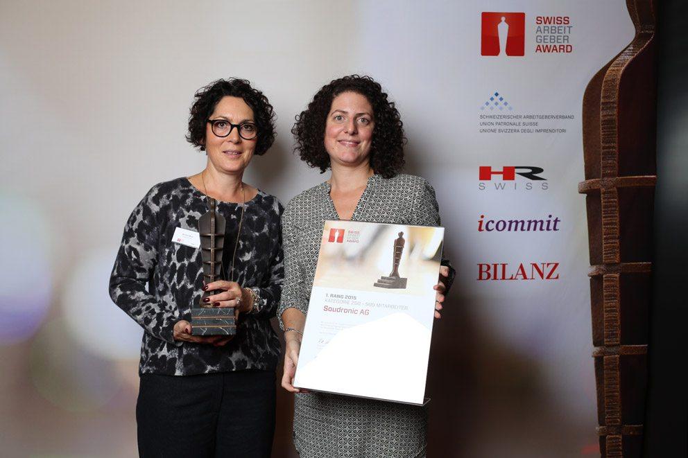 """Gewinner in der Kategorie """"Mittelgrosse Unternehmen"""": Soudronic AG. (Bild: icommit GmbH)"""