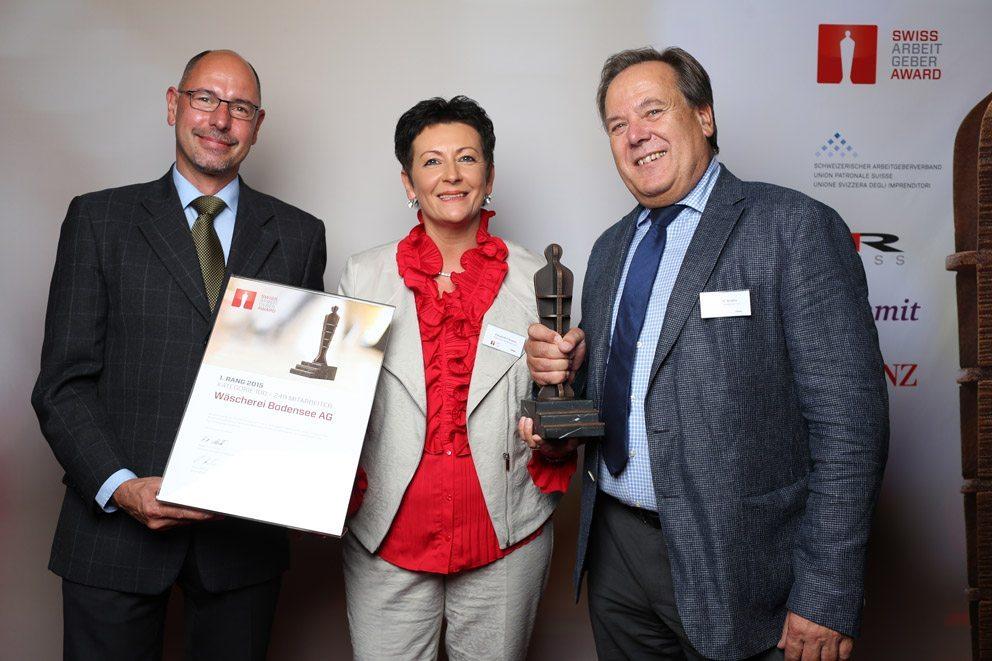 """Gewinner in der Kategorie """"Mittelgrosse Unternehmen"""": Wäscherei Bodensee AG. (Bild: icommit GmbH)"""