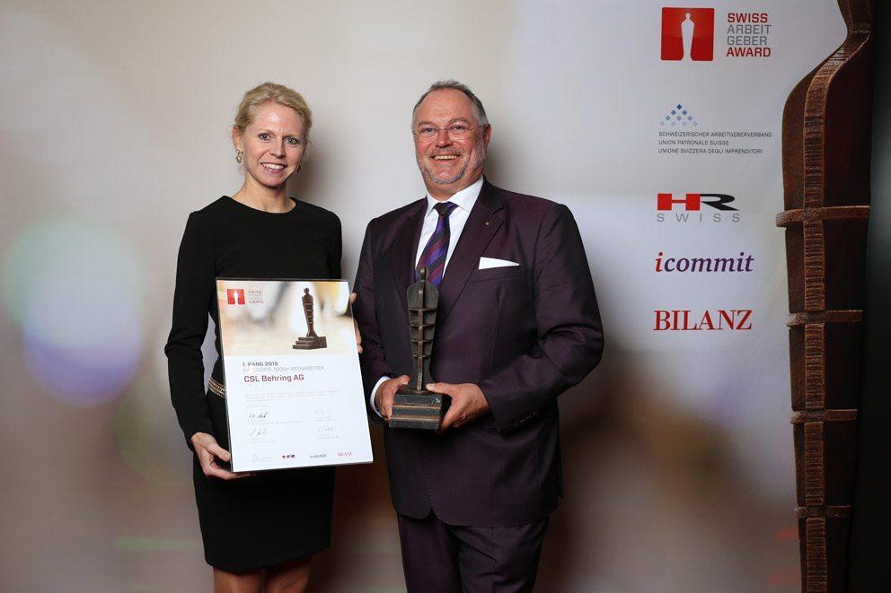 """Gewinner in der Kategorie """"Grosse Unternehmen"""": CSL Behring AG. (Bild: icommit GmbH)"""