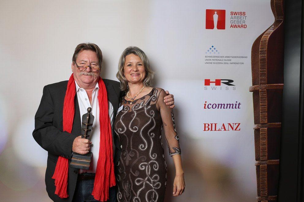 """Gewinner in der Kategorie """"Kleine Unternehmen"""": Hunziker Partner AG. (Bild: icommit GmbH)"""