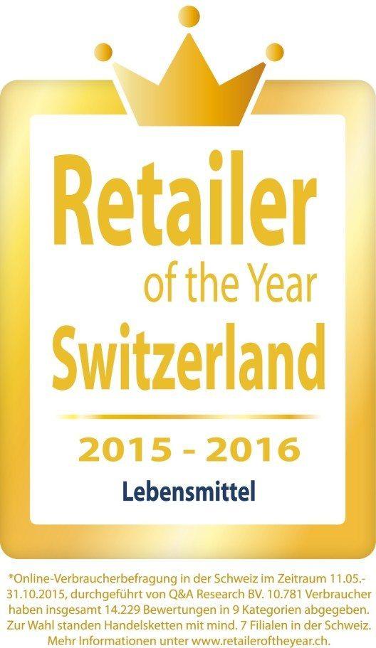 """""""Retailer of the Year 2015"""" (Bild: © obs/LIDL Schweiz)"""