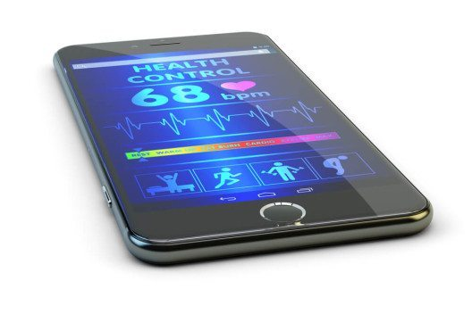 Herz und Kreislauf dank Smartphone immer im Blick. (Bild: © cybrain – Shutterstock.com)
