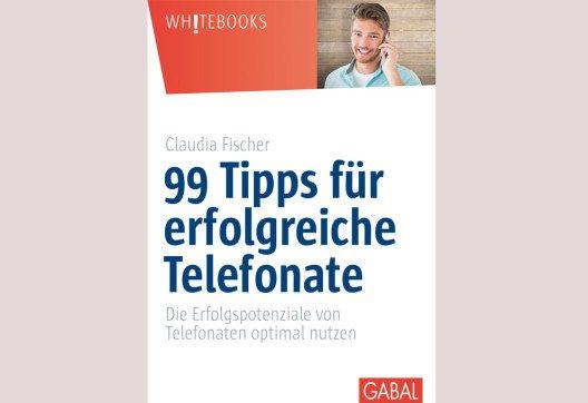 """""""99 Tipps für erfolgreiche Telefonate"""" – Buchcover."""