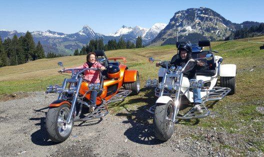 Trike-Touren laden zu längeren Unternehmungen ein (Bild: Trike Center Zürcher Oberland)