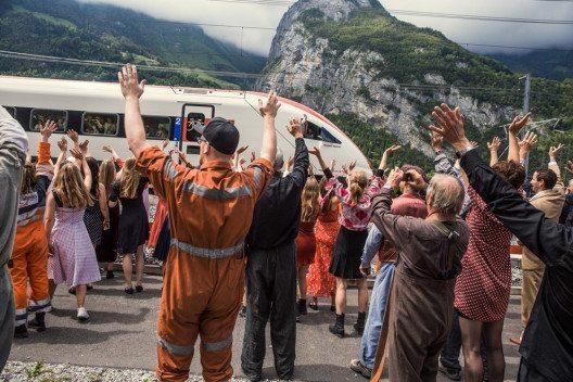 Schweiz feiert Eröffnung des Gotthard-Basistunnels. (Bild: SBB AG)