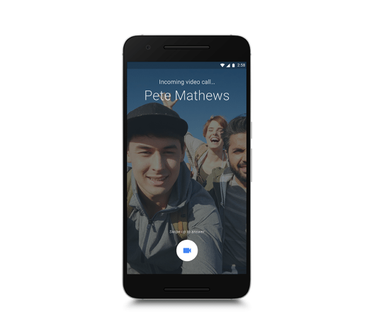 Google Due - ankommender Anruf (Bild: © Google)