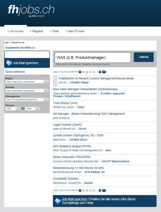 Auf fhjobs.ch finden FH-Absolventen mit wenigen Clicks die perfekt auf Ihr Profil zugeschnittene Stelle. Arbeitgeber können zudem effizient nach passenden Mitarbeitenden mit FH-Abschluss suchen. (Bild: © obs/FH SCHWEIZ)